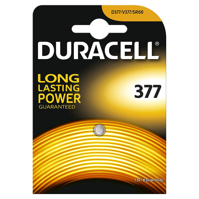 Duracell 377 SR626SW 1.5v Silver Oxide Watch Battery