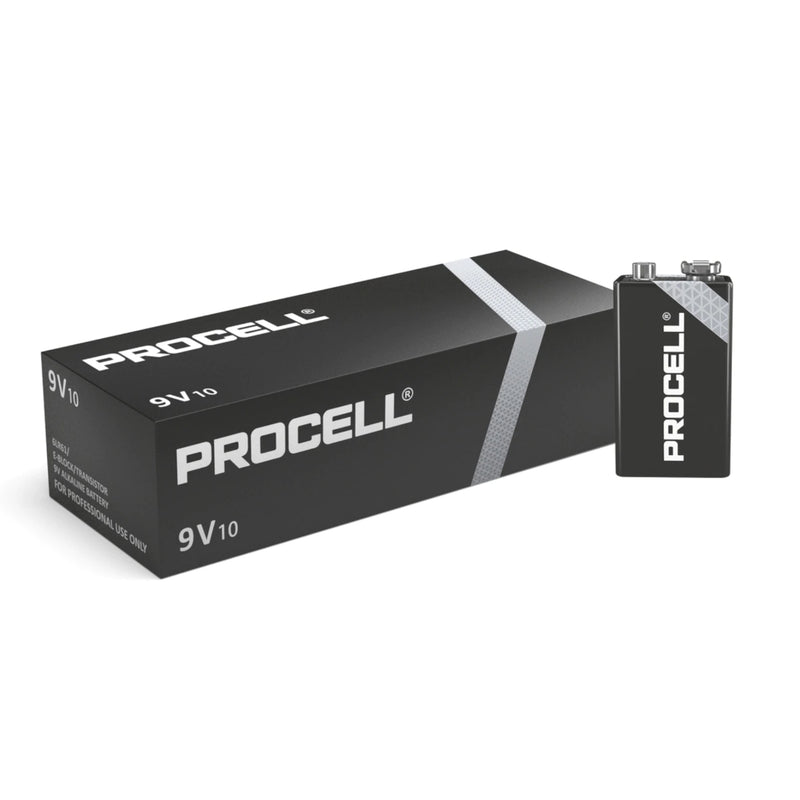 Duracell Procell 9V PP3 6LR61 ID1604 Industrial Procell Batteries - Box of 10