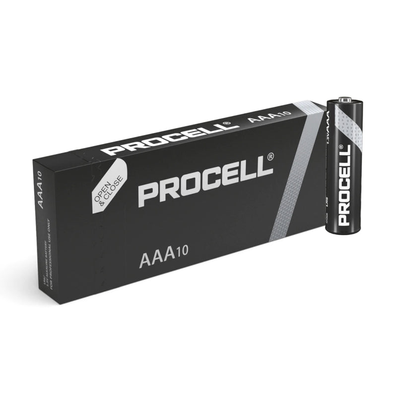 Duracell Procell AAA ID2400 LR03 Industrial Long Lasting Batteries - Box of 10