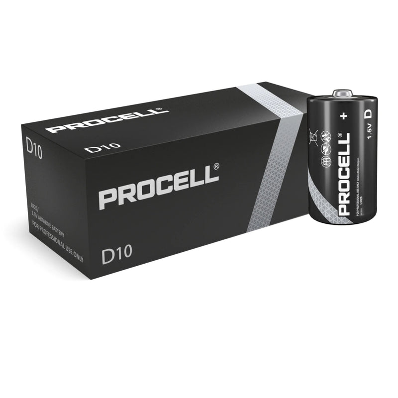 Duracell Procell D LR20 ID1300 Industrial Long Lasting Batteries - Box of 10