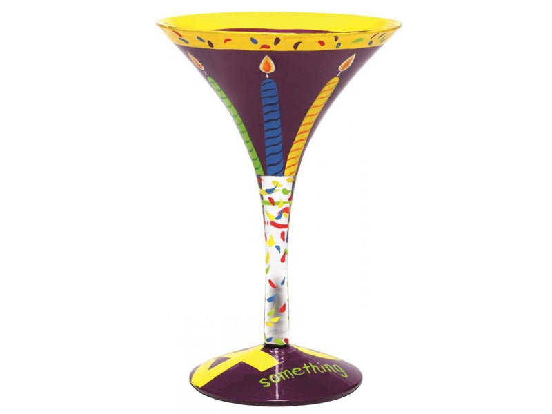 "Lolita ""40 Something"" Hand Decorated Martini Glass"