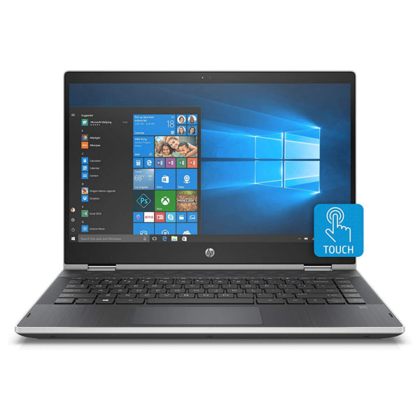"HP 14-CD0522SA 14"" Inch x360 Silver Laptop Intel i3-8130U 2.2GHz 8GB / 128 SSD (Just Like New)"