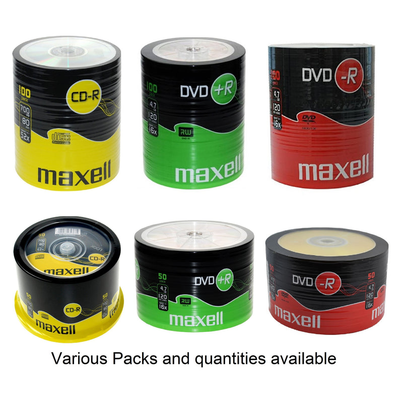 MAXELL CD-R / DVD-R / DVD+R Recordable Blank Discs