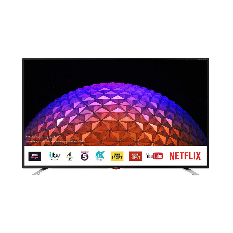 "Sharp 2T-C40BG3KG2FB 40"" Inch Full HD LED Smart TV with Freeview Play and Wi-Fi"