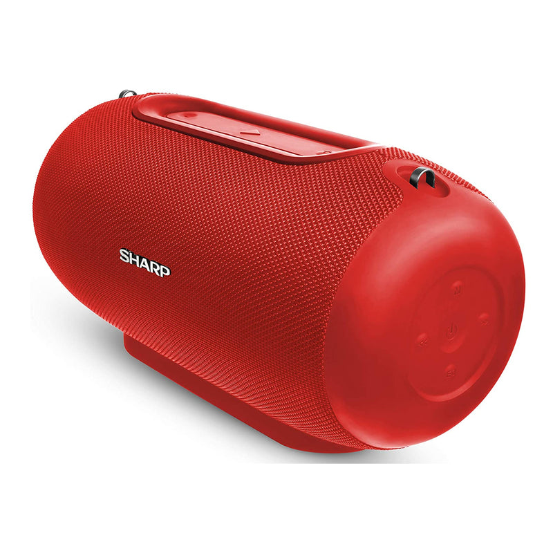 Sharp GX-BT480 40W Splashproof Rechargeable Portable Bluetooth Speaker - Red