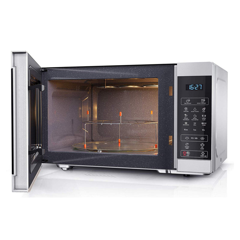 Sharp YC-MG81U-S Silver 28L 900W Microwave with 1100W Grill and Touch Control