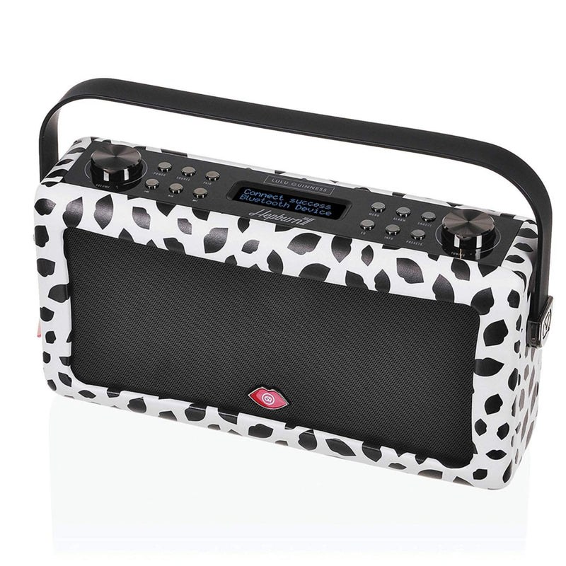 VQ Hepburn MKII DAB+ FM Radio Bluetooth Speaker - Lulu Guinness Black Lip