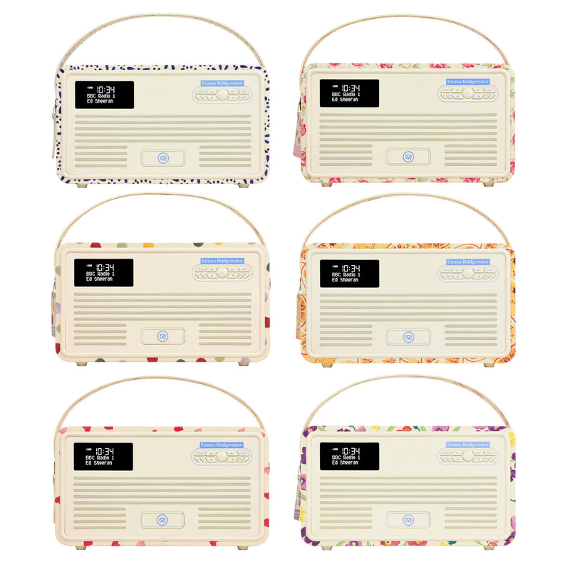 VQ Emma Bridgewater Retro MkII DAB/DAB+/FM Radio with Lightning Dock and Bluetooth - Additional 20% off USE CODE: VQ20 at checkout