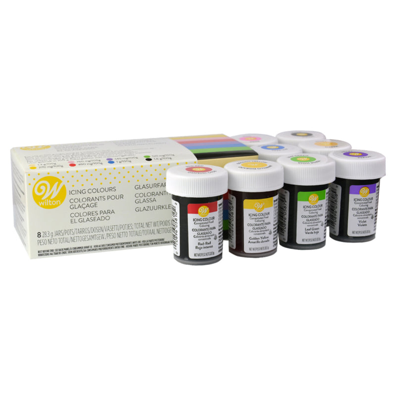 Wilton Icing 8 Colour Icing Set