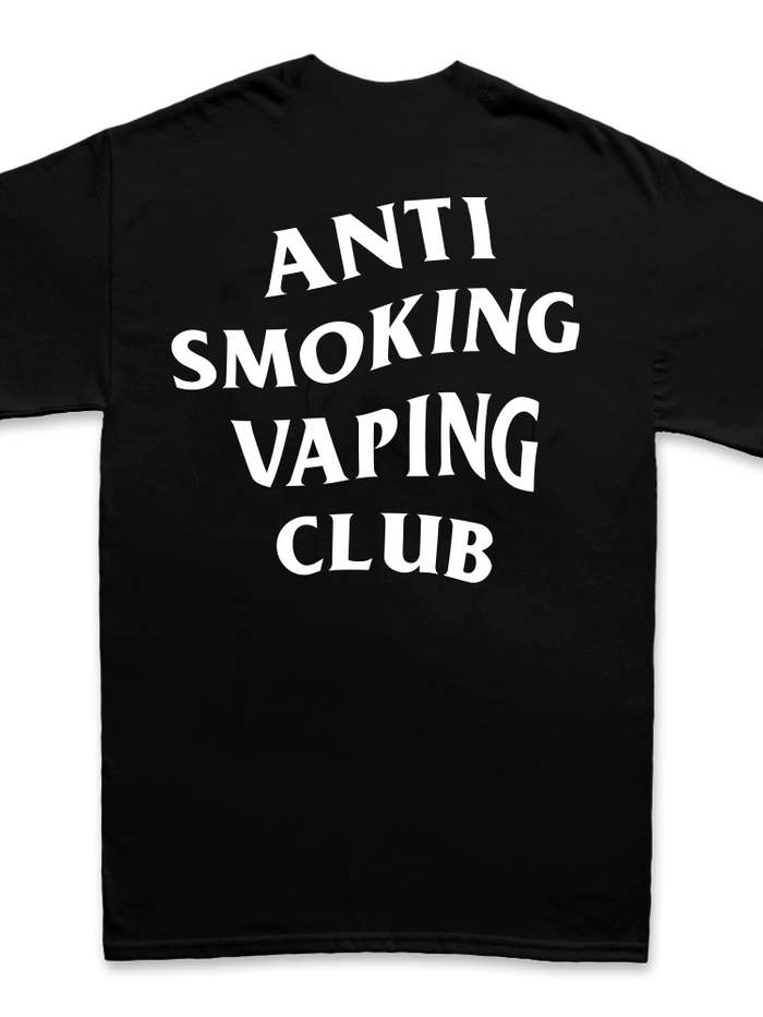 ANTI SMOKING VAPING CLUB (BLACK SHIRT)
