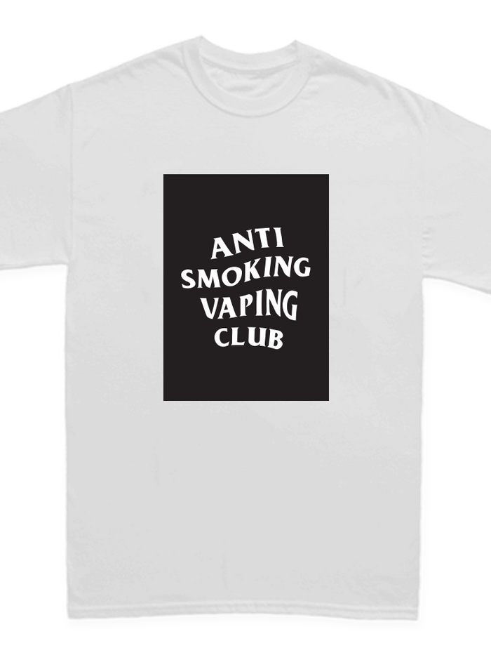 ANTI SMOKING VAPING CLUB BOX (WHITE SHIRT)
