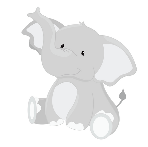 Jungle Animals Elephant CT616 Decal