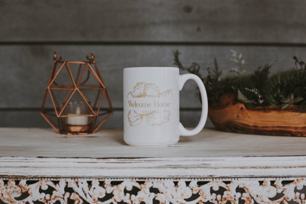 Welcome Home Coffee Mug: Home is Where Your Story Begins - 50% off!