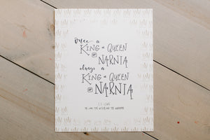 Narnia King and Queen Story Print 8x10