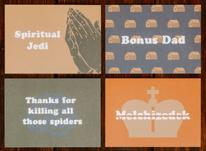 Father's Day Postcard 4-Pack Set