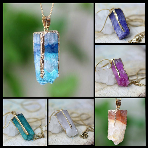 Agate Crystal Energy Pendant Necklaces - FREE SHIPPING