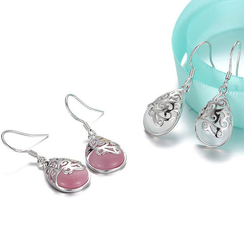 Earrings - Silver Filigree Teardrop Earrings