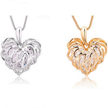 Necklace - Sparkling Filigree Zircon Heart Necklace-FREE SHIPPING