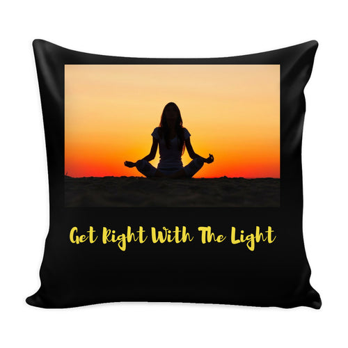 Pillows - Get Right With The Light Pillow Cover-Black