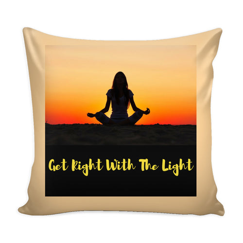 Pillows - Get Right With The Light Pillow Cover-Natural
