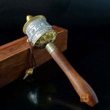 Prayer Wheel - Tibetan Buddhist Hand Prayer Mantra Wheel -FREE Shipping
