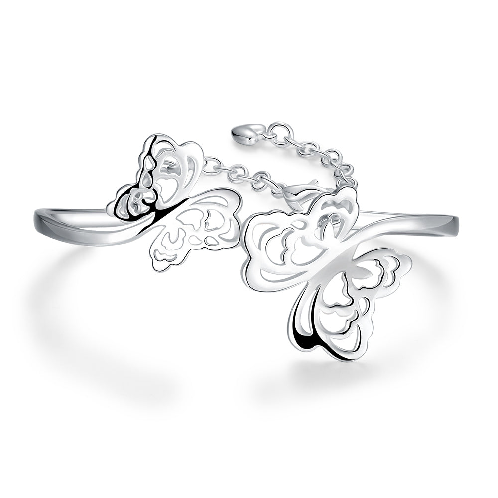 Exquisite 925 Sterling Silver Filigree Butterfly Bracelet - FREE SHIPPING