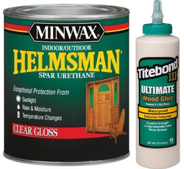 Minwax Spar Varnish Titebond Glue