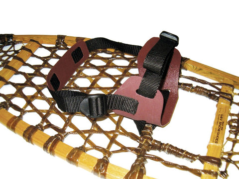 Sandal Style Bindings for Wood Snowshoes