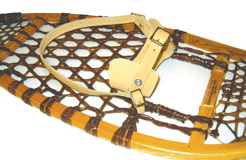 Traditional Leather Bindings for Wood Snowshoes
