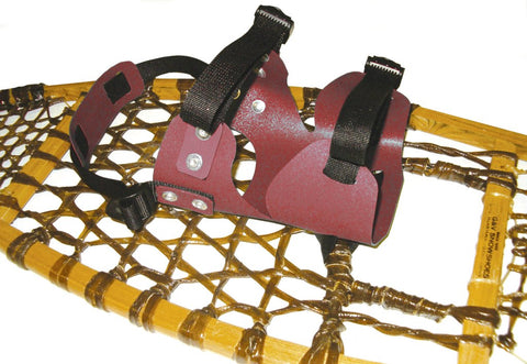 Double Use Bindings for Wood Snowshoes