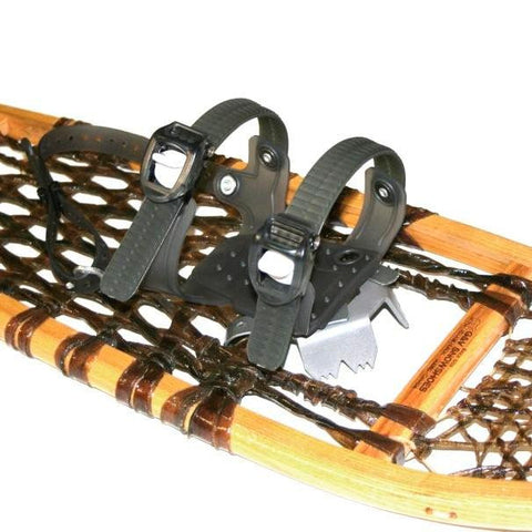 Asymmetrical Ratchet Binding for Wood Snowshoes