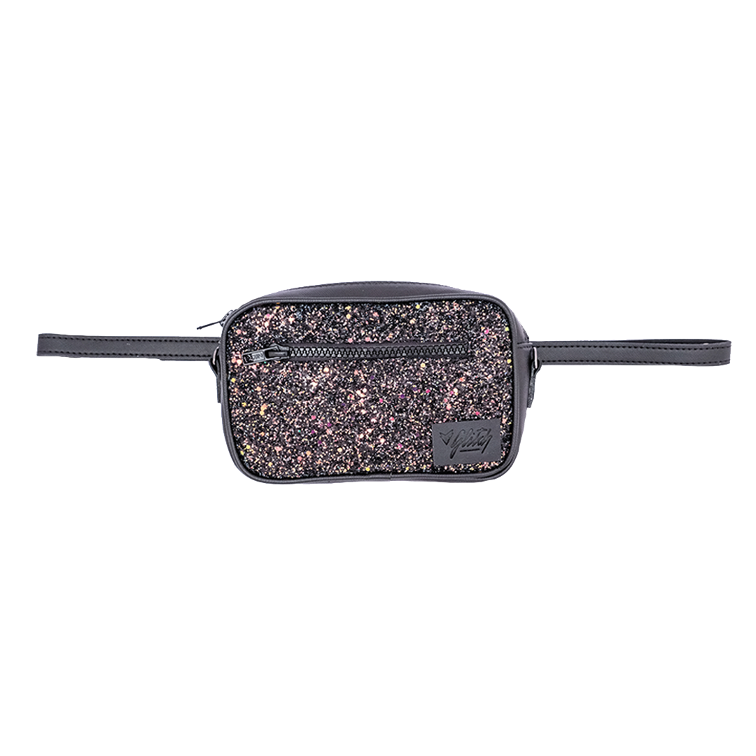 GLITCH ONLINE POCHETE BELT BAG DIANA GLITTER GALAXY 3D