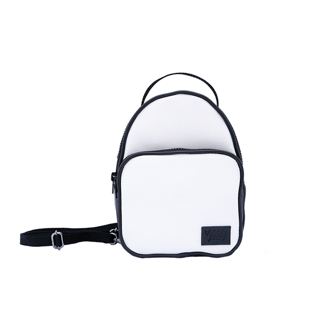 GLITCH ONLINE MINI MOCHILA SHOULDER BAG TINA PU BRANCA