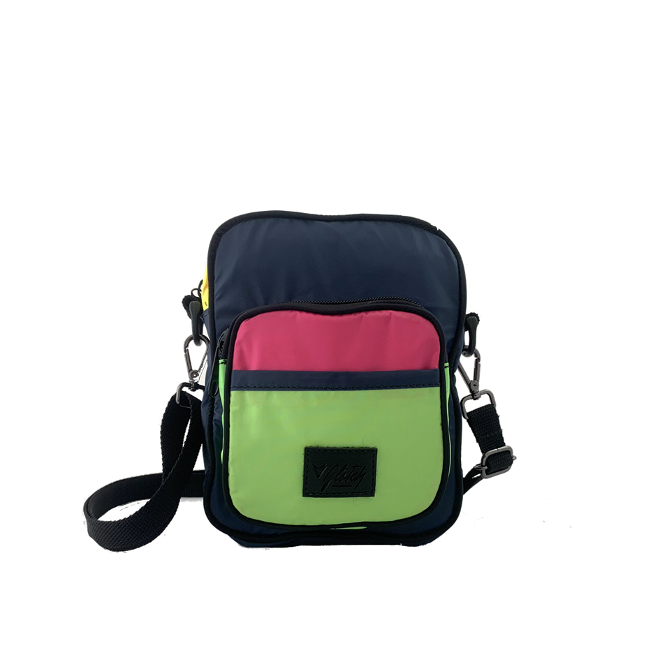 Shoulder Bag BLK LBL | Nylon Marinho e Verde