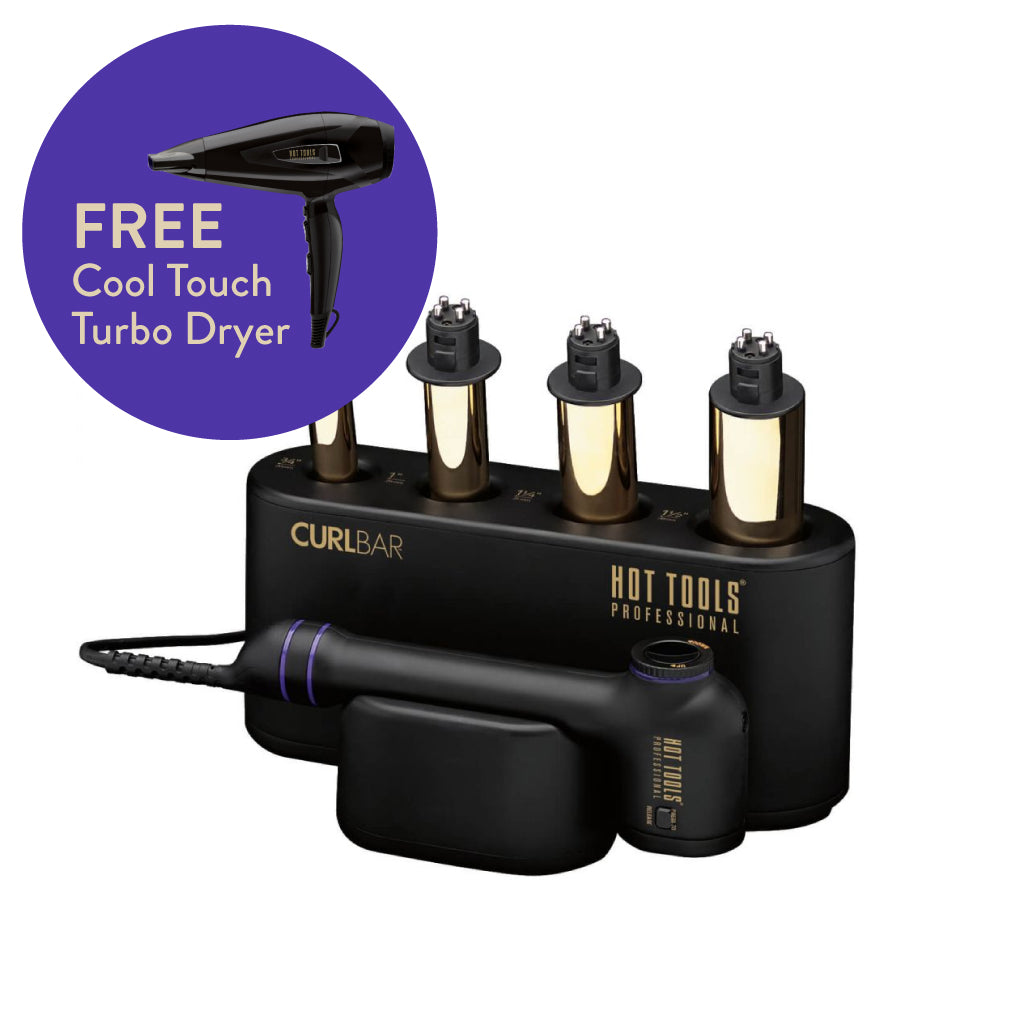 FREE Cool Touch Turbo Dryer with the Curl Bar Set