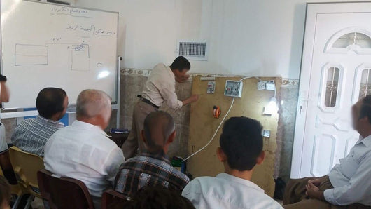 Electrician Training Class and Tools for Kaka'i Refugee Man