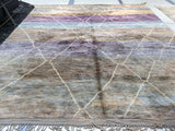 Shades of Purple Moroccan Rug
