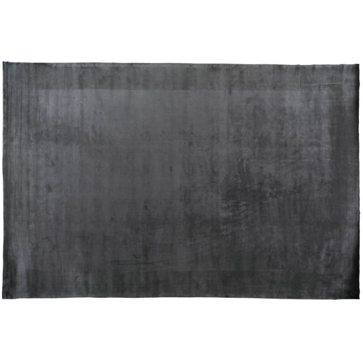 Charcoal High Low Wool Area Rug