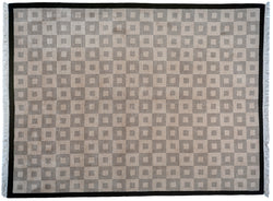 Taupe and Sand Squares Area Rug