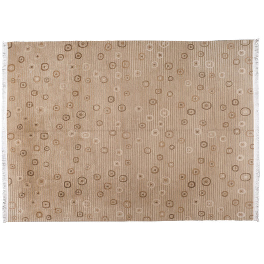 Contemporary Tibetan Style Tan Wool Area Rug