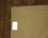 Caramel Brown Corduroy Area Rug