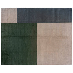 Cool Color Blocks Tibetan Design Rug