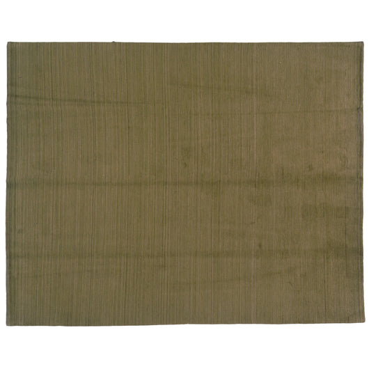 Green, Gold and Beige Stripe Wool Area Rug