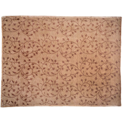 Brown Floral Tracery Area Rug