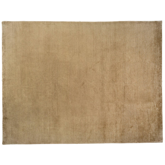 Camel Ribbed Wool Area Rug