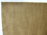 Tan Ribbed Wool Area Rug