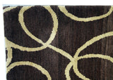 Brown and Cream Swirls Area Rug