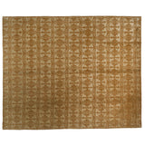 Silver and Gold Floral Area Rug