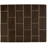 Chocolate Brick  Wool and Silk Rug