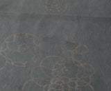Floral Doodle Grey Wool and Silk Area Rug